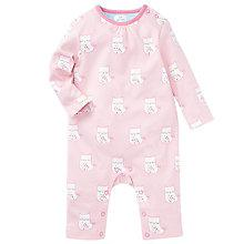Buy John Lewis Baby Owl Sleepsuit, Pink Online at johnlewis.com