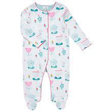 Buy John Lewis Baby Floral Sleepsuit, Multi Online at johnlewis.com