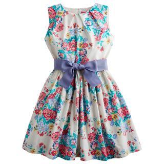 Buy Little Joule Girls' Constance Floral Print Prom Dress, Multi Online at johnlewis.com