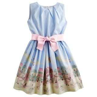 Buy Little Joule Girls' Constance Town Scene Print Dress, Blue/Multi Online at johnlewis.com