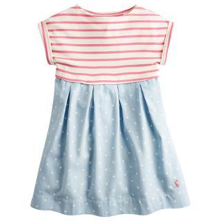 Buy Little Joule Children's Emmie Stripe Chambray Dress, Blue Online at johnlewis.com