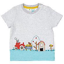 Buy John Lewis Baby Farm Scene Top, Grey Online at johnlewis.com