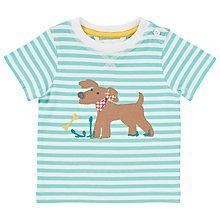 Buy John Lewis Stripe Dog T-Shirt, Turquoise/White Online at johnlewis.com