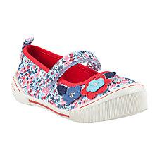 Buy John Lewis Ditsy Mary-Jane Canvas Shoes, Red/White/Navy Online at johnlewis.com