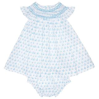 Buy Question Everything Baby's Amelia Bird Dress, White/Blue Online at johnlewis.com
