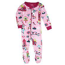 Buy Hatley Baby Bird House Sleepsuit, Pink Online at johnlewis.com