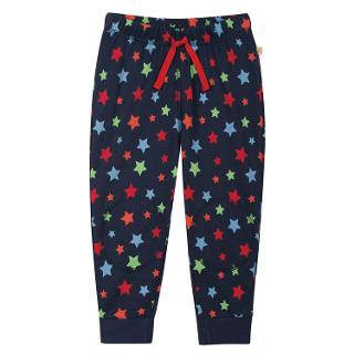 Buy Frugi Star Print Crawler Joggers, Navy/Multi Online at johnlewis.com