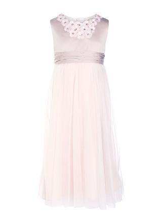 Buy John Lewis Girl Floral Neckline Bridesmaid Dress, Nude Online at johnlewis.com