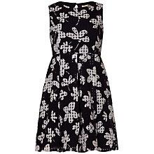 Buy Yumi Girl Check Flower Dress, Black Online at johnlewis.com