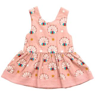Buy Little Green Radicals Peacock Dress, Pink Online at johnlewis.com