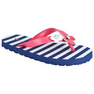 Buy John Lewis Nautical Daisy Flip Flops, Navy/Pink Online at johnlewis.com