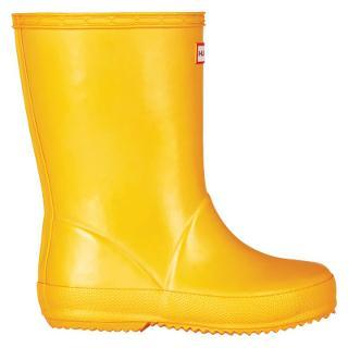 Buy Hunter Kids' First Gloss Wellington Boots, Danelion Online at johnlewis.com