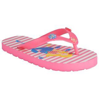 Buy John Lewis Mermaid Striped Flip Flops, Pink Multi Online at johnlewis.com