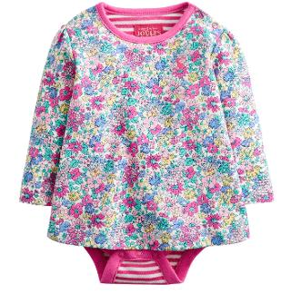 Buy Baby Joule Helena Flower Top, Purple Online at johnlewis.com