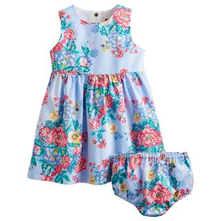 Buy Baby Joule Constance Flower Dress, Blue Online at johnlewis.com