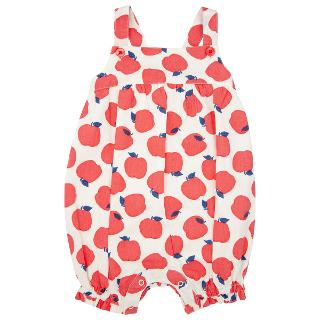 Buy John Lewis Apple Playsuit, White/Red Online at johnlewis.com