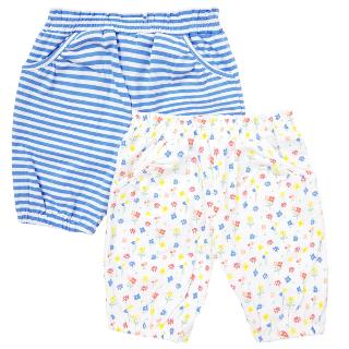 Buy John Lewis Baby Floral and Striped Cotton Bloomers, Pack of 2, White/Multi Online at johnlewis.com