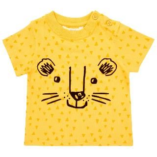 Buy John Lewis Baby Lion Face T-Shirt, Yellow Online at johnlewis.com