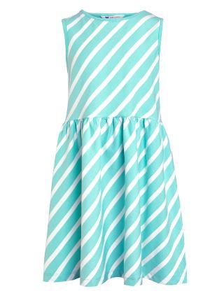 Buy John Lewis Girls' Stripe Dress, Aqua Online at johnlewis.com