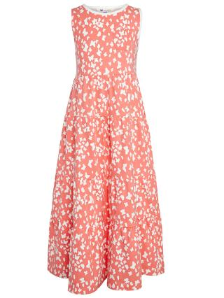 Buy John Lewis Girl Butterfly Print Maxi Dress, Pink Online at johnlewis.com