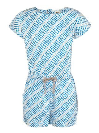 Buy Kin by John Lewis Girls' Graphic Print Playsuit, Blue Online at johnlewis.com
