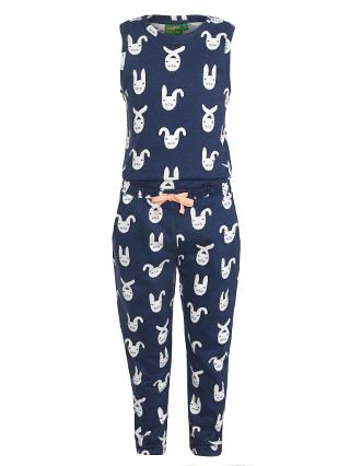 Buy Donna Wilson for John Lewis Rabbit Print Jumpsuit, Blue/White Online at johnlewis.com