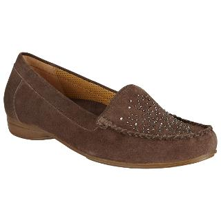 Buy Gabor Omaha Wide Fit Diamante Suede Loafers Online at johnlewis.com