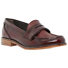 Buy Dune Leoh Leather Penny Loafers, Burgundy Online at johnlewis.com