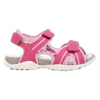 Buy Geox Roxanne Twin Rip-Tape Sandals, Fuchsia Online at johnlewis.com