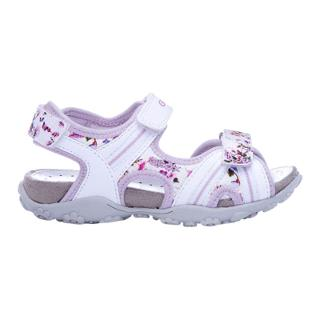 Buy Geox Roxanne Floral Sandals, White/Lilac Online at johnlewis.com