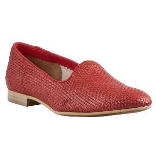 Buy Somerset by Alice Temperley Darlene Raffia Shoes, Red Online at johnlewis.com