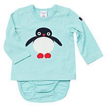Buy Polarn O. Pyret Baby Penguin Bodysuit, Blue Online at johnlewis.com