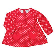 Buy Polarn O. Pyret Spot Tunic, Red Online at johnlewis.com