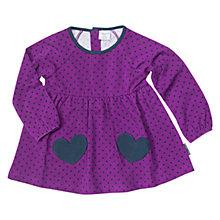 Buy Polarn O. Pyret Baby Hearts Tunic, Purple Online at johnlewis.com