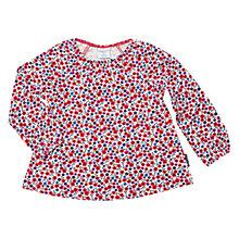 Buy Polarn O. Pyret Baby Floral Long Sleeve Top, White Online at johnlewis.com