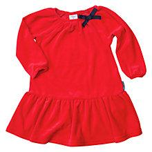Buy Polarn O. Pyret Baby Velour Bow Dress, Red Online at johnlewis.com