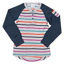 Buy Polarn O. Pyret Baby Merino Wool Stripe Raglan Jumper, Multi Online at johnlewis.com