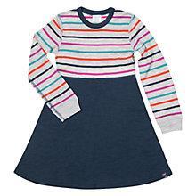 Buy Polarn O. Pyret Girls' Stripe Merino Wool Dress, Multi Online at johnlewis.com