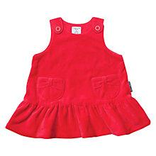 Buy Polarn O. Pyret Newborn Baby Velour Button Dress, Red Online at johnlewis.com
