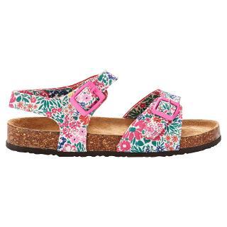 Buy Little Joule Ditsy Floral Tippy Toe Sandals, Pink/Multi Online at johnlewis.com