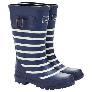 Buy Little Joule Stripe Wellington Boots, Navy/White Online at johnlewis.com
