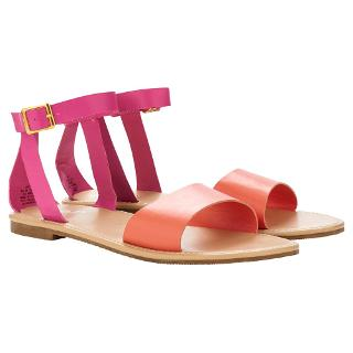 Buy Little Joule Children's Serena Sandals, Pink/Orange Online at johnlewis.com