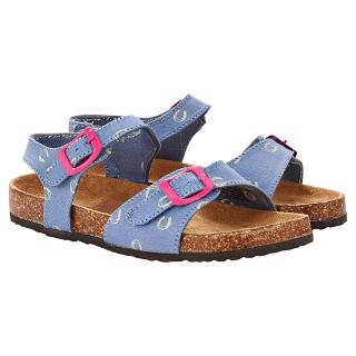 Buy Little Joule Children's Tippy Chambray Sandals, Blue Online at johnlewis.com