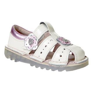 Buy Kickers Children's Floral Applique Sandals, Silver/Pink Online at johnlewis.com