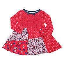 Buy Polarn O. Pyret Floral Spot Patchwork Dress, Red Online at johnlewis.com