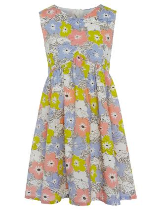 Buy John Lewis Girl Bow Yoke Dress, Multi Online at johnlewis.com