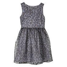 Buy Mango Kids Girls' Leopard Print Organza Dress, Silver Online at johnlewis.com