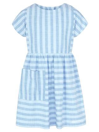 Buy Kin by John Lewis Girl Two Tone Stripe Dress, Blue Online at johnlewis.com