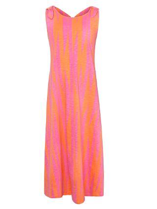 Buy Kin by John Lewis Girls' Stripe Maxi Dress, Raspberry/Orange Online at johnlewis.com