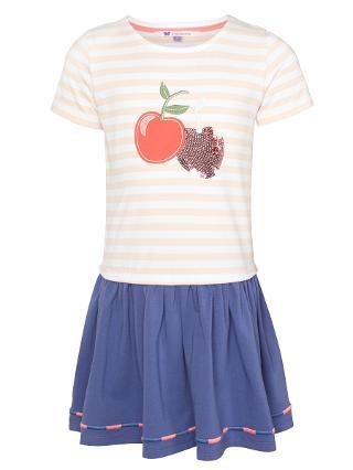 Buy John Lewis Girl Cherry Jersey Dress, Chintz Rose Online at johnlewis.com